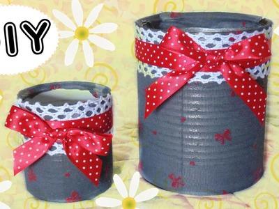 Tutorial Riciclo Creativo: Barattolo porta oggetti - ♥ - DIY Creative Recycling Easy Ideas