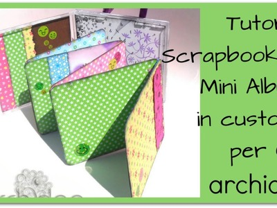 Tutorial | Scrapbooking | Minialbum in una custodia per cd | DIY Altered cd case
