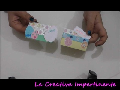 Tutorial Scrapbooking: segnaposto per la pasqua | DIY Easter Placeholder Paper Craft, Cardmaking