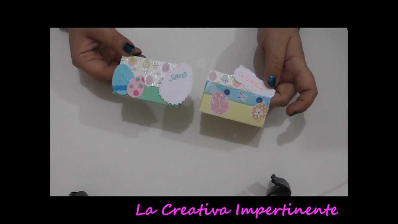 Tutorial Scrapbooking: segnaposto per la pasqua | DIY Easter Placeholder Paper Craft, Cardmaking