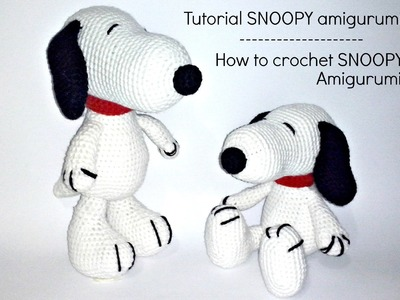 Tutorial Snoopy Amigurumi | How to crochet SNOOPY amigurumi