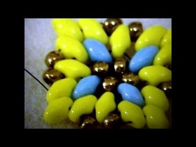 TUTORIAL   SUPERDUO  E TWIN BEADS MINI CROCE