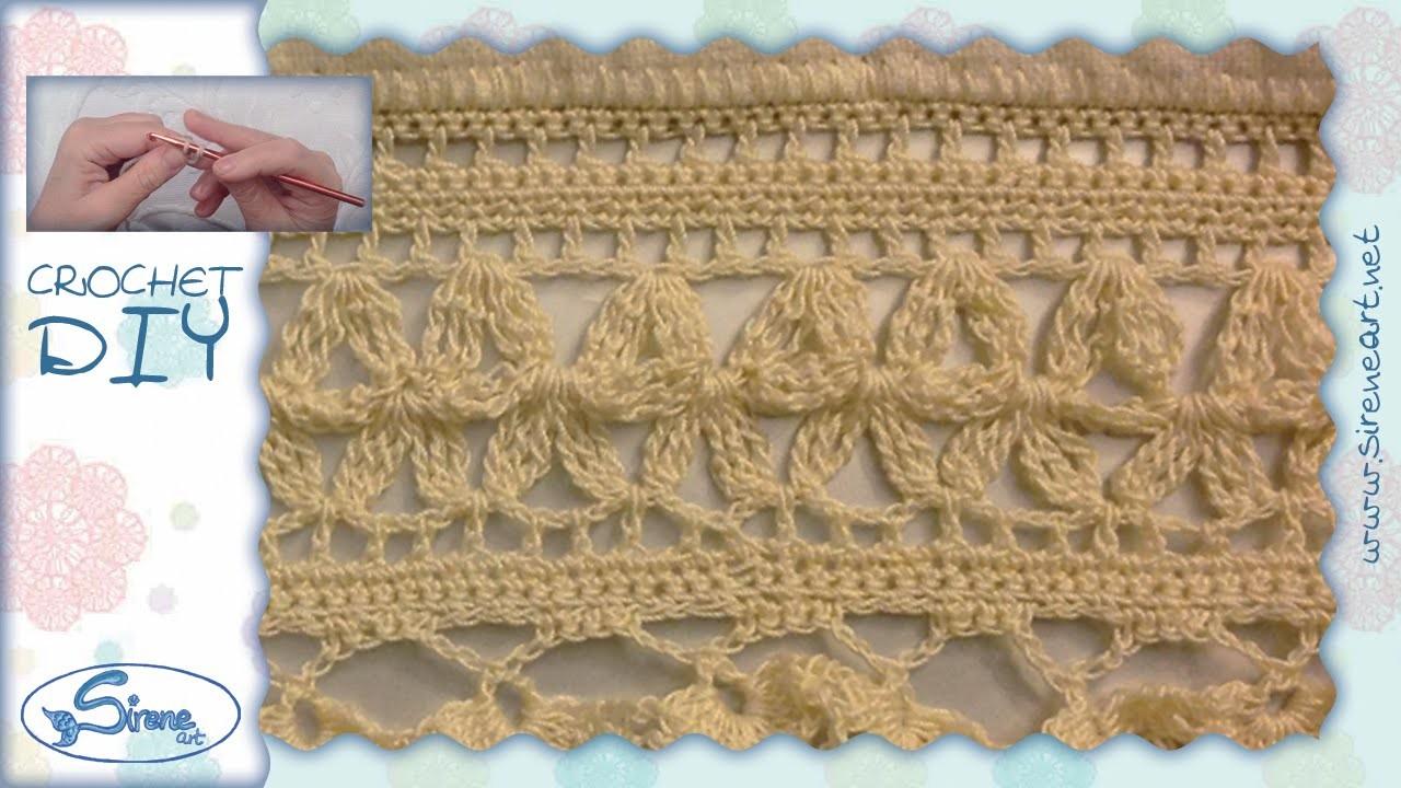Tutorial Uncinetto ❀ bordo Fiocchi d'amore ❀ [crochet edge ribbons of love ] [ITA - ENG sub]