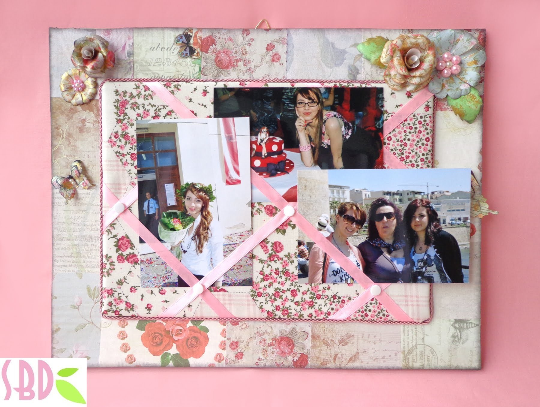Bacheca Portafoto - Showcase photo holder Shabby chic (collab con HippyWitch)