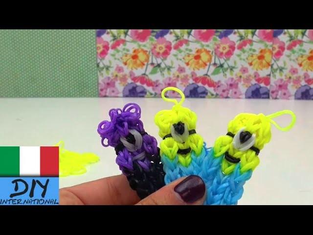 DIY elastici colorati Minions istruzioni con base portachiavi minion Tutorial