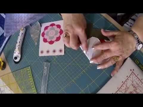 MANI DI LARA - Foundation paper piecing  (cucitura su carta): la ROSA di maggioni