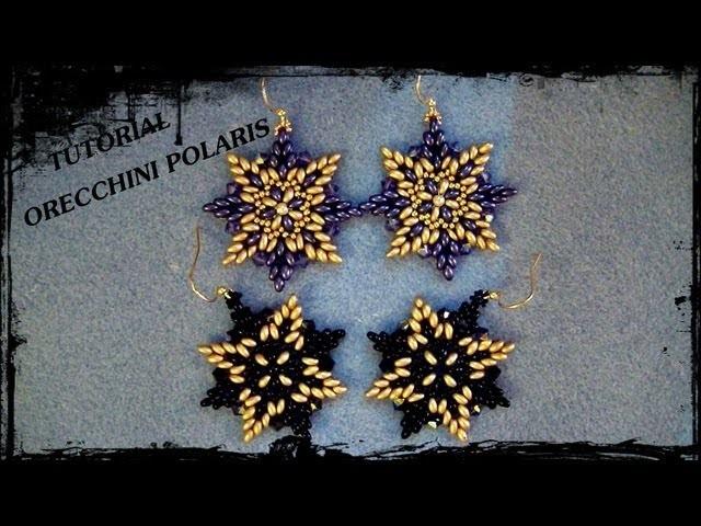 """Tutorial Perline: Orecchini """"Polaris"""", realizzati con twin beads e rocaille"""