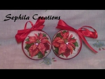 Tutorial: Decoupage e cracklè su sfera di plastica (christmas decorations)