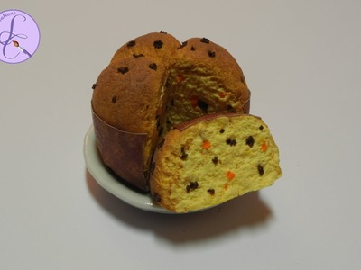 Tutorial: Panettone in fimo (panettone in polymer clay) (christmas decoration) [eng-sub]