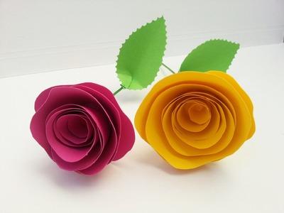 TUTORIAL: ROSE di CARTA (San Valentino, Festa della Mamma, dolci ricorrenze. )