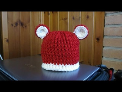 TUTORIAL : CAPPELLO ALL'UNCINETTO PER BIMBA.O con le orecchie!
