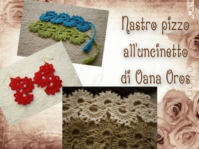 Nastro pizzo all'uncinetto