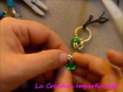 Chainmail Tutorial:  varianti maglia a rosetta, orecchini bracciale ciondolo | pendant earring