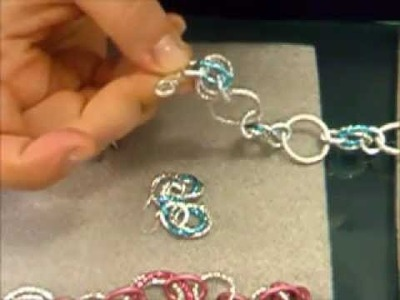 Chainmaille Tutorial - maglia a rosetta e idee per orecchini e bracciale - n 2 | bracelet, earring