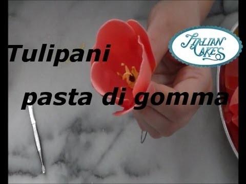 Come realizzare tulipani in pasta di gomma (Make gum paste tulips) by ItalianCakes