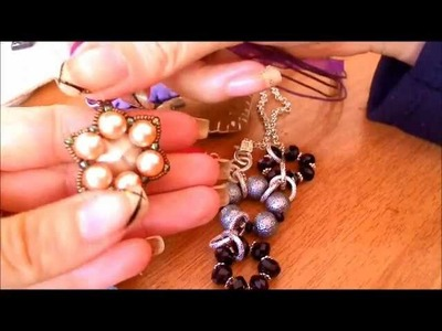 Creazioni uncinetto portachiavi feltro e collane swarovski e superduo other creations!