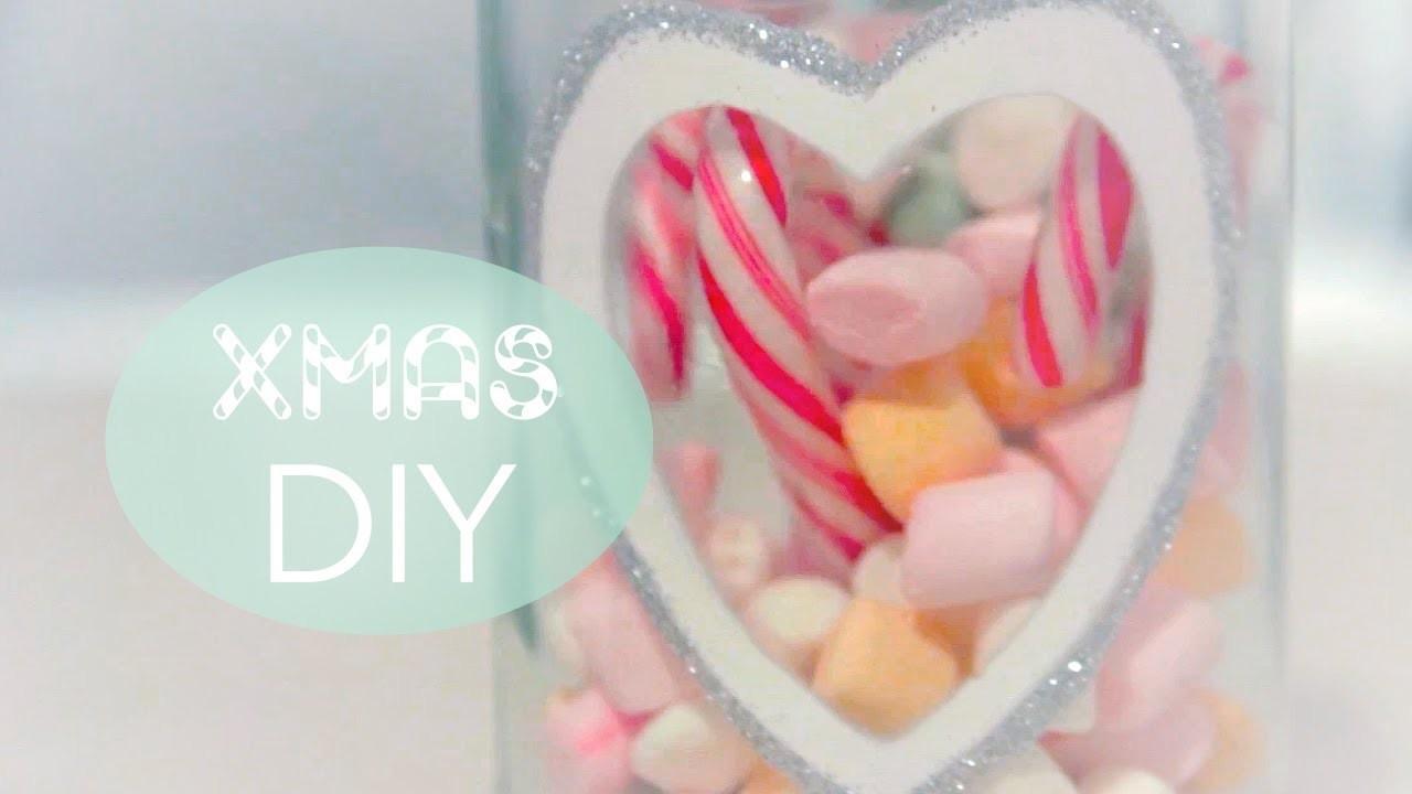DIY - Candy Jar & Glitter Snowflake