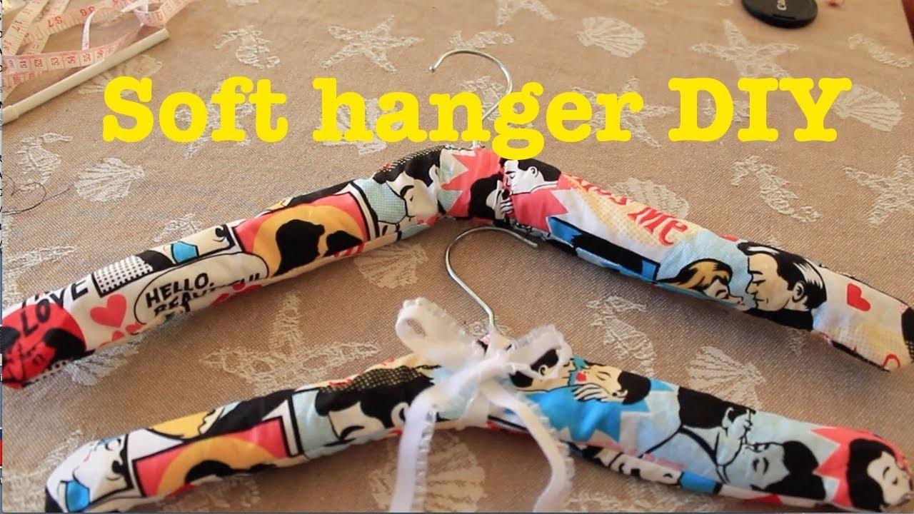 Fabric soft hanger DIY (trasformare una vecchia gruccia)