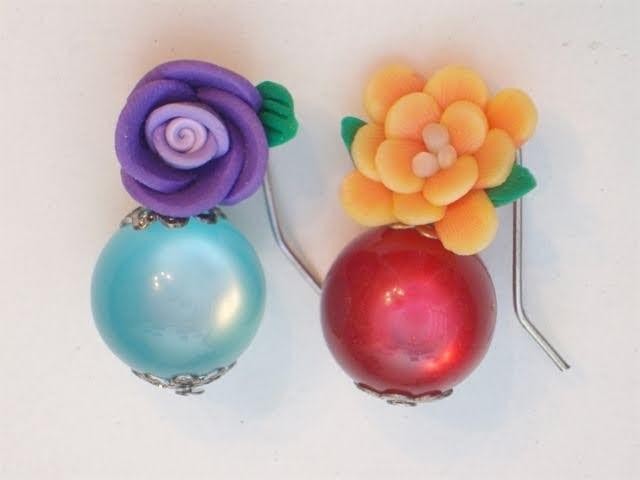 Sarubbest - Tutorial Orecchini fai da te: orecchini con perle e fiori in Fimo 1.2 | Tutorial Perline