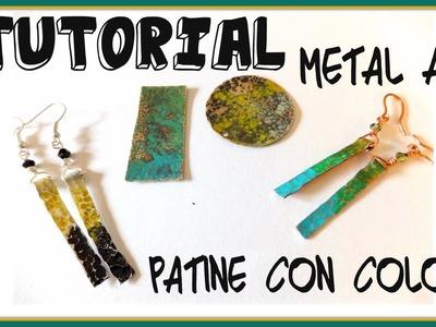 Tutorial Metal Art Patina  - Patinare con i colori per metalli - con Perles&Co