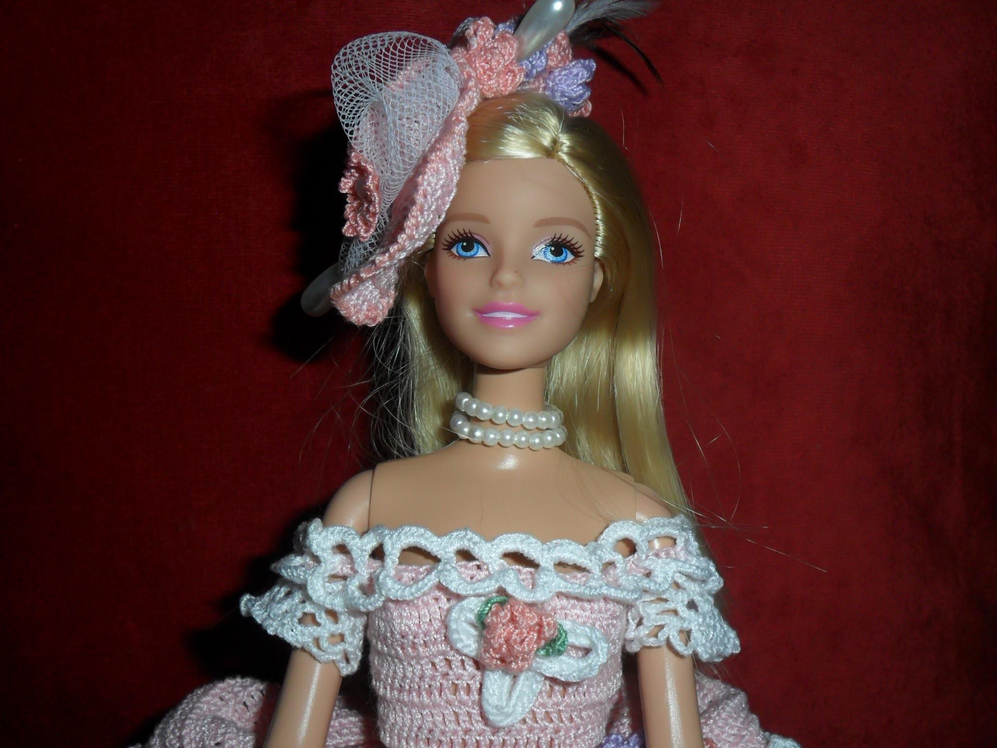 """Lavori artistici all'uncinetto """"Abito Barbie 3"""""""