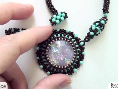 Sarubbest: Orecchini e collana con perline: nuova incastonatura e nuova collana netted