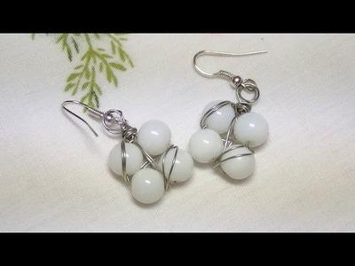 Tutorial: Orecchini quadrati con perle