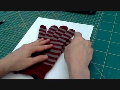 Tutorial riciclo: da calzamaglia a guanti con dita