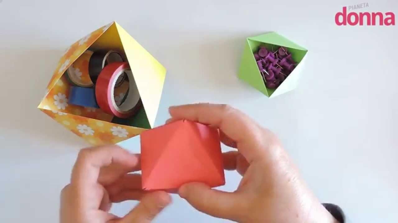 Come fare un portaoggetti in carta con la tecnica origami