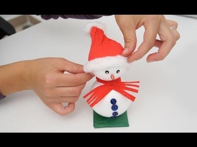 Lavoretto di Natale: come realizzare un pupazzo di neve