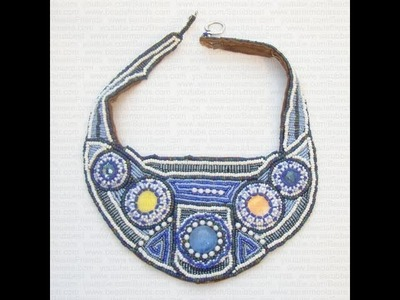 Sarubbest - Collana embroidery con madreperla, Swarovski e perline varie | Nuove Creazioni