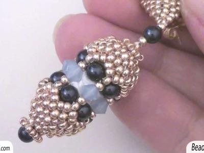 Sarubbest: Orecchini con perline: orecchini pendenti con perline - Tecnica Peyote | Nuove Creazioni