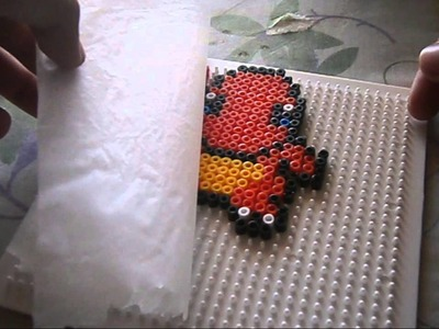 [SHOT#4] Pixel Art Charmander Pokemon- hama beads