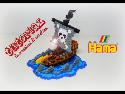 Tutorial Nave dei Pirati con HAMA BEADS - www.perlinedastirare.it