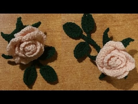 Tutorial rosa all'uncinetto a dieci petali