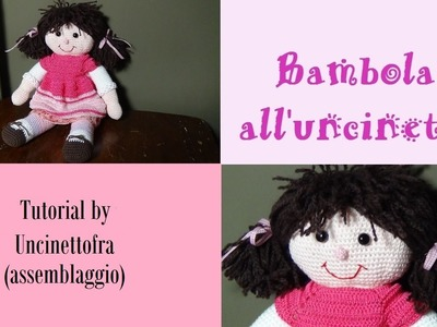 Bambola all'uncinetto tutorial (assemblaggio finale)