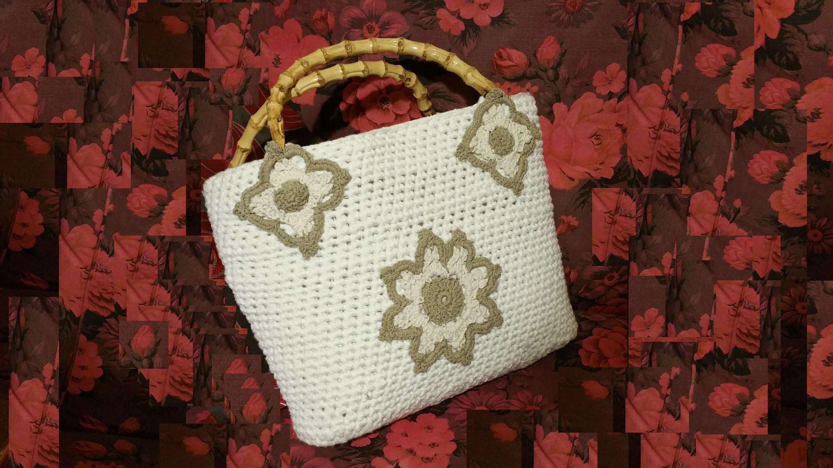 Borsa da mare all'uncinetto tutorial II di II - crochet sea bag - bolso en crochet -