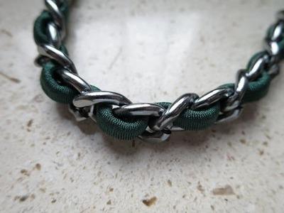 Bracciale con catena e fettuccia di lycra