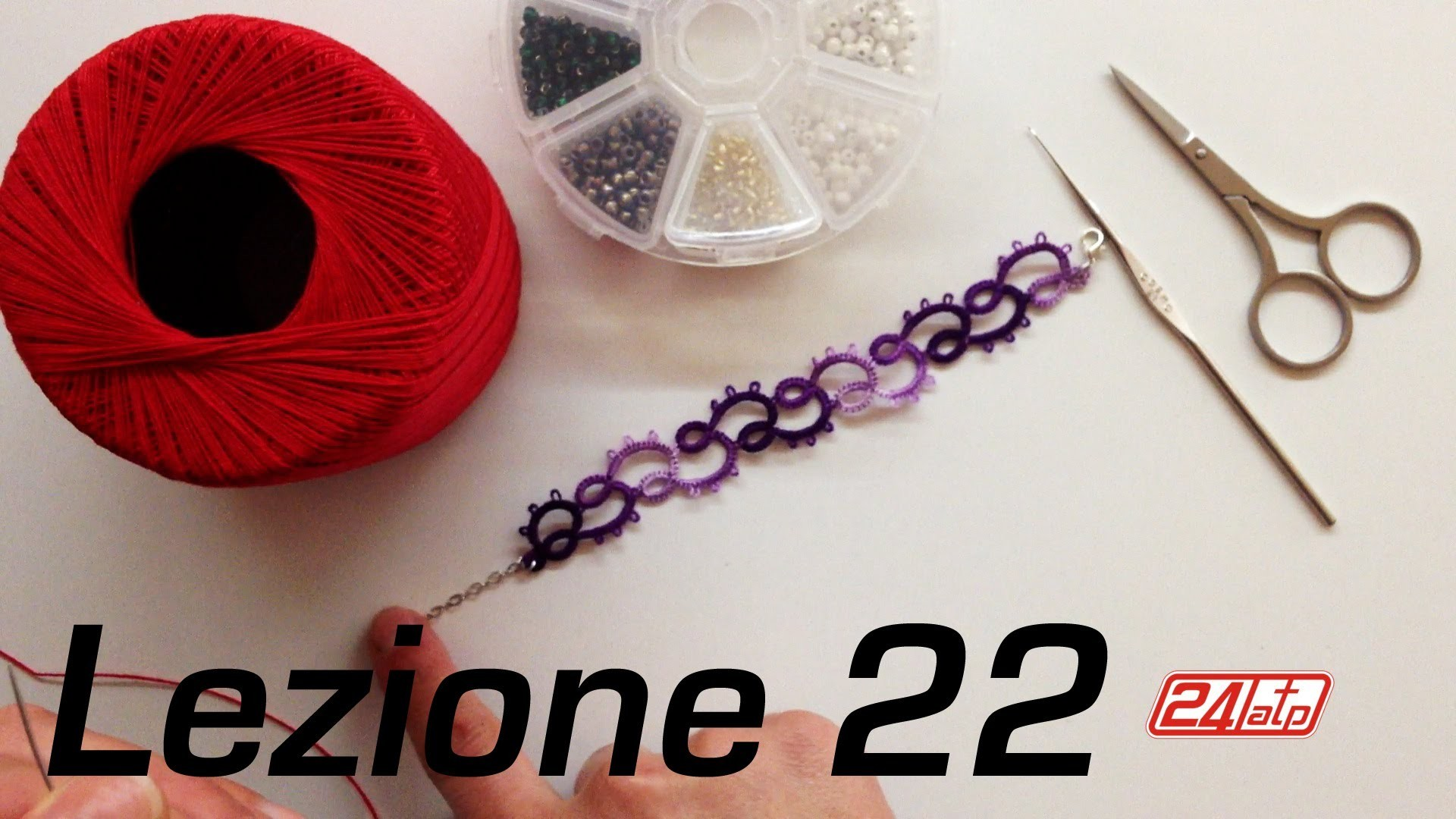 Chiacchierino Ad Ago - 22˚ Lezione Bracciale Con Perline Bijoux Tutorial Come Fare Needle Tatting