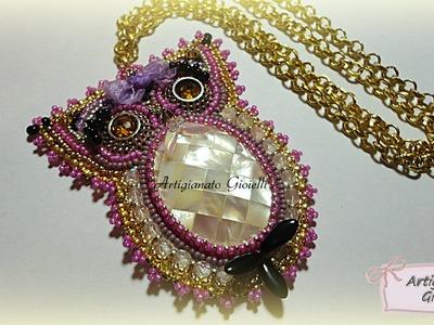 Creazioni con perline - Ciondolo embroidery - Zoo creativo #4