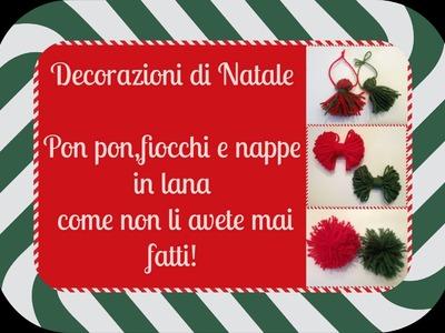 Decorazioni di Natale con la lana!Facili facili !!!(Fai da te Natalizio)-Arte per Te