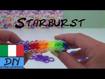 DIY Come realizzare un braccialetto Loom Rainbow Starbust con motivo a stella con forchette
