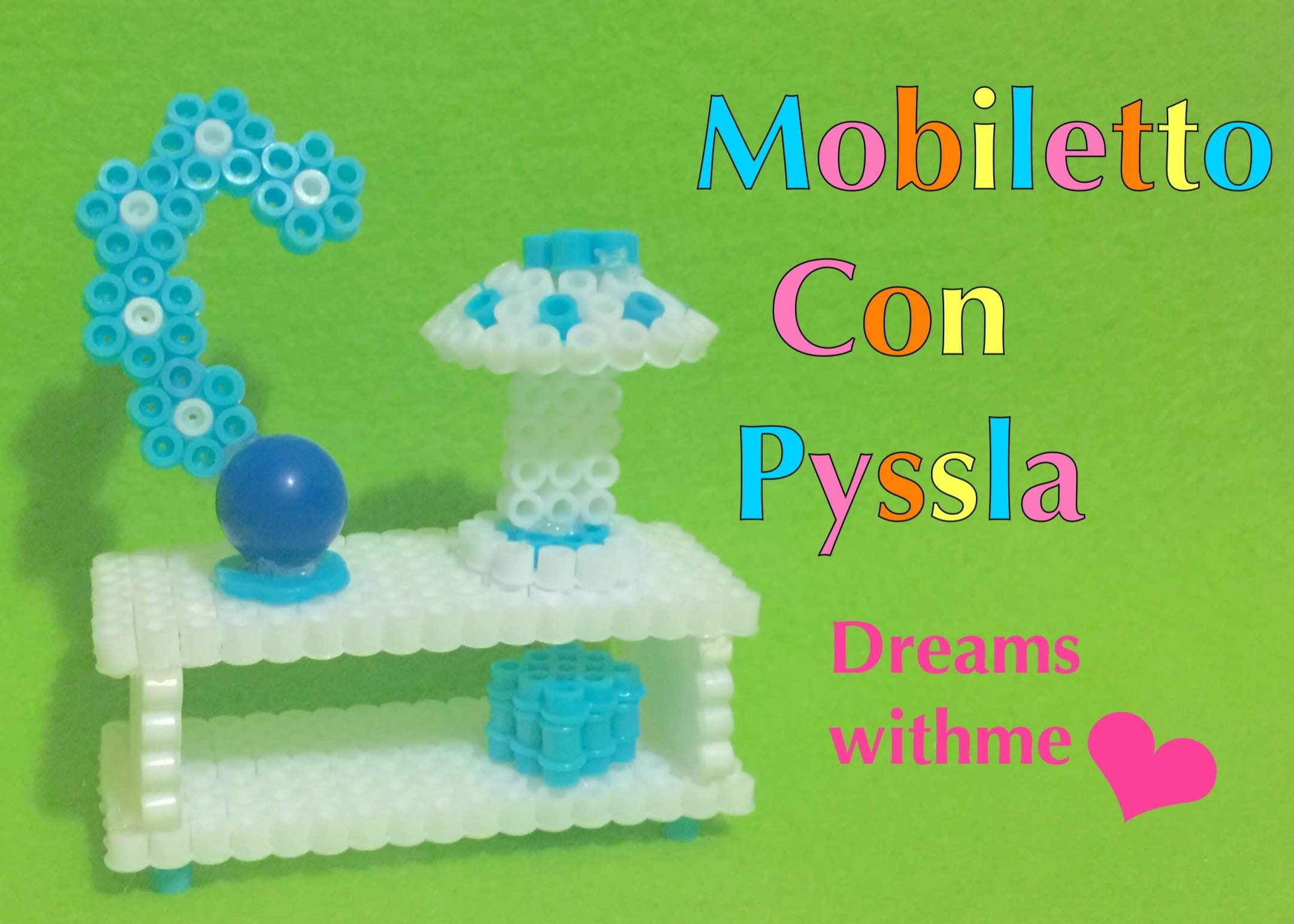 DIY ROOM DECOR 3D mobiletto in pyssla HAMA BEADS PERLER BEADS