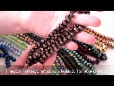 Fantasycraft - Cristalli Briolette - perline bigiotteria