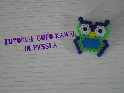 Gufo Kawaii in Pyssla.Hama Beads