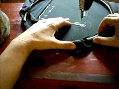 Lezione ricamo macchina a pedale 3 leccion bordado maquina pedal singer 3