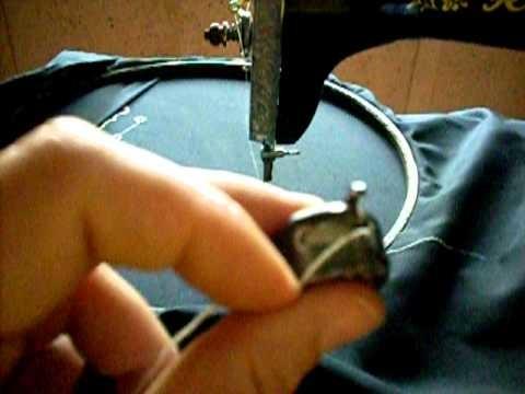 Lezione ricamo macchina a pedale2 leccion bordado maquina pedal singer 2