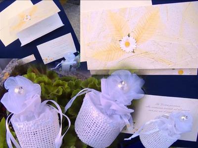 Matrimonio portaconfetti bomboniere juta sacchettini e partecipazioni