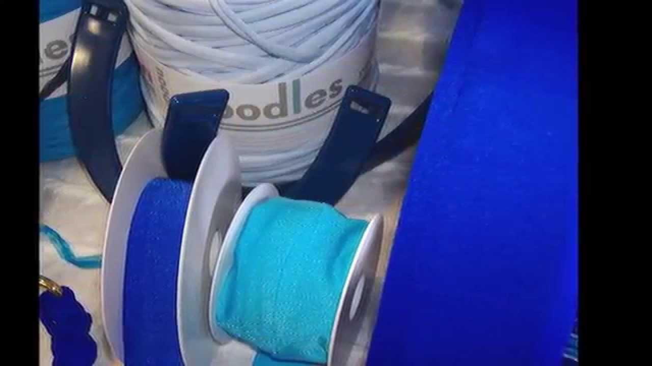 Nel blu di fettuccia borse uncinetto, blaue Textilgarn Taschen stricken häkeln
