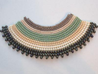 Sarubbest - Fascia Herringbone con perline di diverse dimensioni (Tecnica Herringbone)